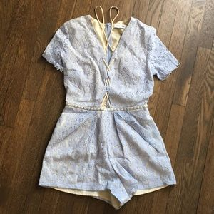 Do + Be Lace Up Romper From Pretty Little Things